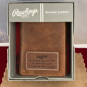 Rawlings American Story tri-fold Leather Wallet